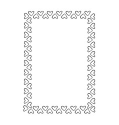 Black and white frame composed of small hearts vector