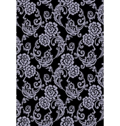 black roses seamless pattern vector image