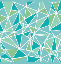 Blue green geometric mosaic triangles vector