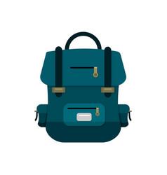 Blue school backpack vector