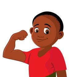 Boy strong flexing vector