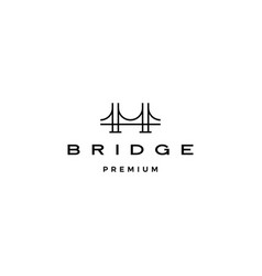 bridge logo icon line outline monoline vector image