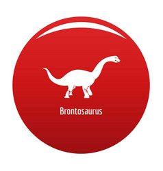 Brontosaurus icon red vector