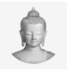 Buddha face vector image