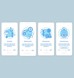 business digital tools onboarding mobile app page vector image