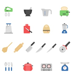 Color icon set - kitchenware vector image