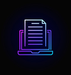 Colorful blogging icon vector