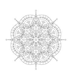 Coloring Book Mandala Circle lace ornament round vector image