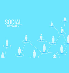 Connecting people social network concept vector