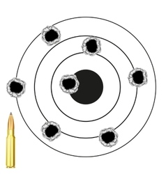 Dartboard with hole from pool vector