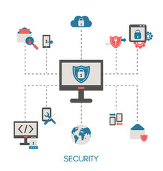 data protection concept data protection concept vector image