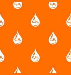 drop oil pattern orange vector image