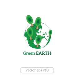 Eco Friendly green earth concept vector image
