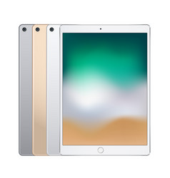 Electronic tablets different colors silver vector