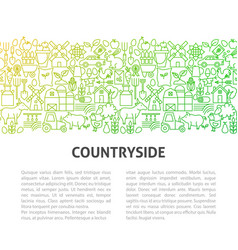 farm countryside line template vector image