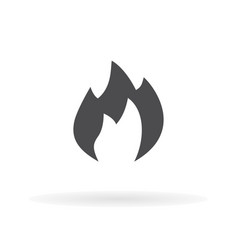 flat icon fire for web business finance and vector image