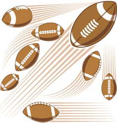 Flying american football ball vector image