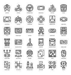 game technology outline icon vector image