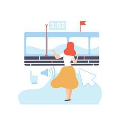 girl creating digital content web design vector image