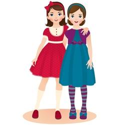 Girls friends vector