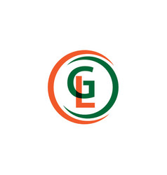 gl company logo template design vector image