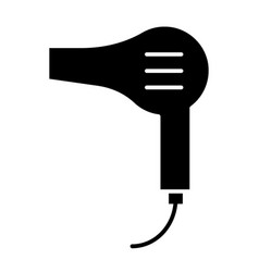 Hair dryer solid icon blow dryer vector