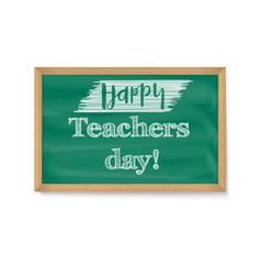 happy teacher day school chalkboard with vector image
