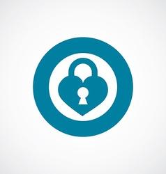 Heart lock icon bold blue circle border vector