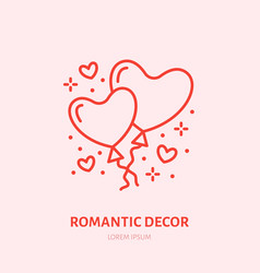 heart shape balloons party vector image