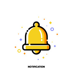 Icon of bell for alarm or notification concept vector