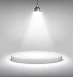 Illuminated White Stand Podium to Place Object vector image