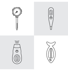 Image thermometer icons vector image