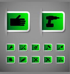 Industrial worker icons set vector