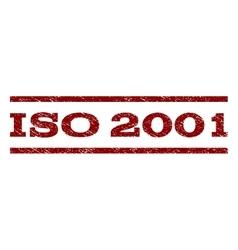 ISO 2001 Watermark Stamp vector image