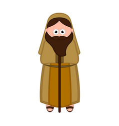 isolated joseph cartoon character christmas vector image