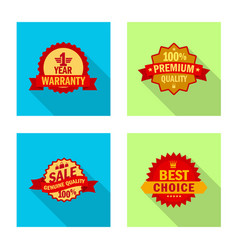 Isolated object emblem and badge symbol vector