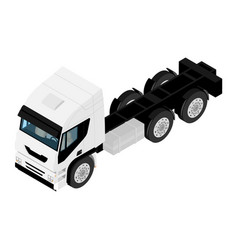 isometric view white truck isolated on white vector image