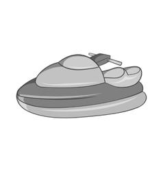 Jet ski icon black monochrome style vector image