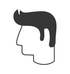 Man head profile icon vector