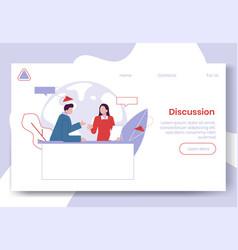 modern cartoon flat people characters talking vector image