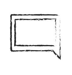 monochrome blurred silhouette of speech in square vector image