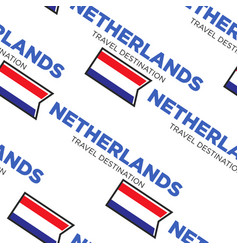 Netherlands or holland travel destination seamless vector