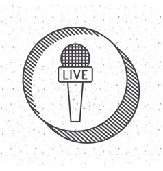 news microphone and media design vector image