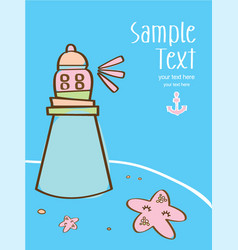 Nice marine background in with cute starfis vector