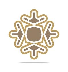 orange arch element design icon vector image
