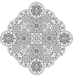 Outlined circular geometric pattern over white vector