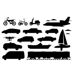 passenger transportation set vector image