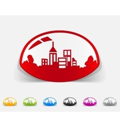 Realistic design element domed city vector