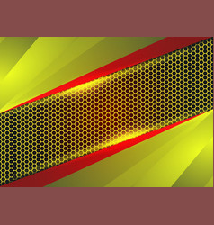 red and yellow geometric and light abstract vector image