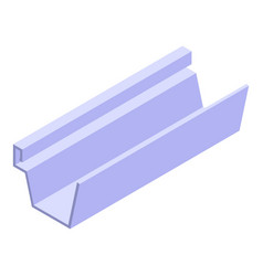 Repair gutter icon isometric style vector
